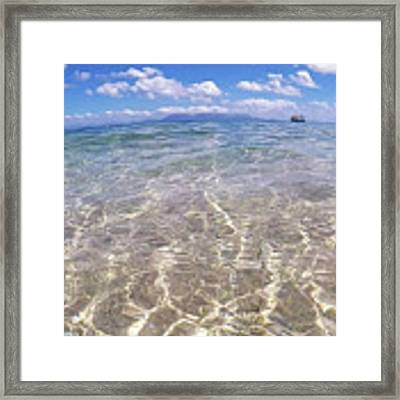 On The Horizon Framed Print by Debbie Cundy