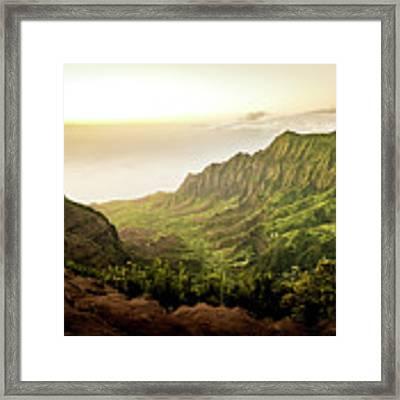 Puu O Kila Lookout, Kauai, Hi Framed Print by T Brian Jones