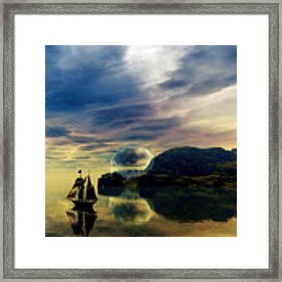 Reflection Bay Framed Print by Sandra Bauser Digital Art