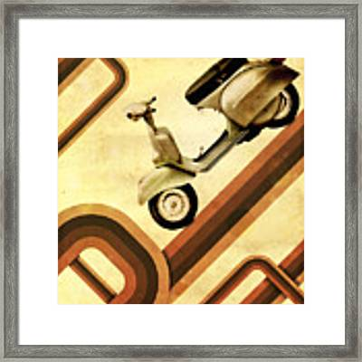 Retro Vespa Scooter Framed Print by Michael Tompsett