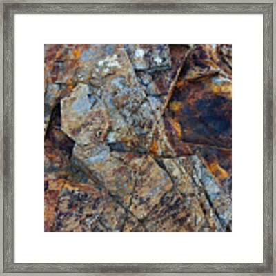Rock Geometry Framed Print by Julian Perry