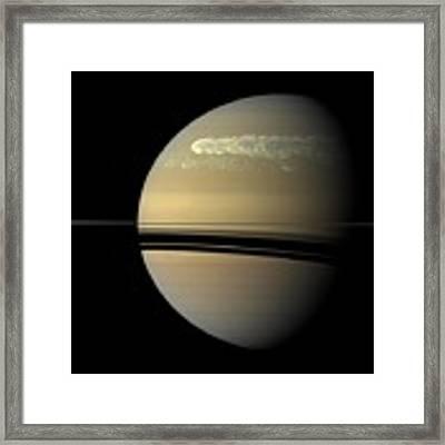 Saturn Framed Print by Artistic Panda