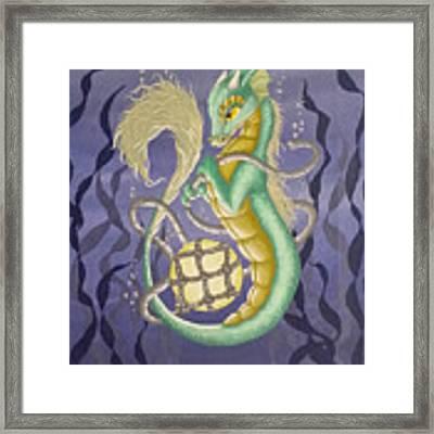 Sea Dragon II Framed Print by Mary Hoy