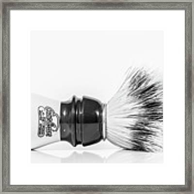 Shaving Brush Framed Print by Gary Gillette