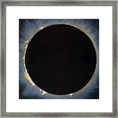 Solar Eclipse, 1860.  Framed Print by Granger