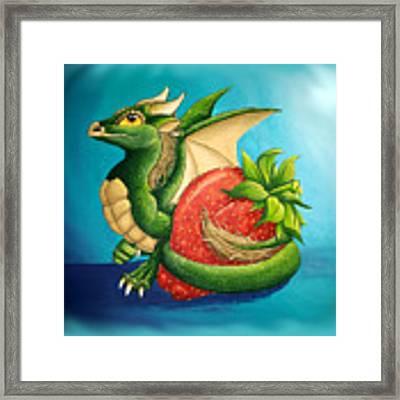 Strawberry Dragon Framed Print by Mary Hoy