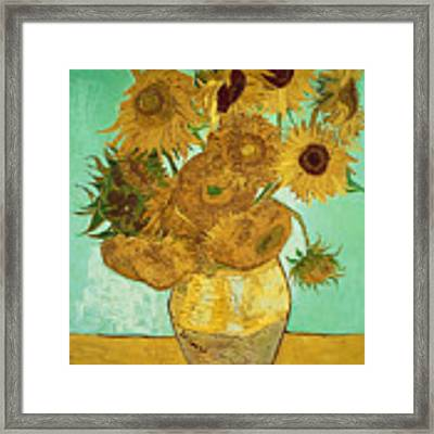 Sunflowers By Van Gogh Framed Print by Vincent Van Gogh