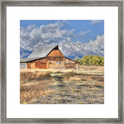 Teton Barn Framed Print by David Armstrong