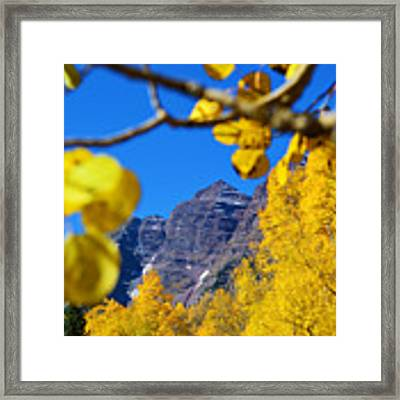 The Maroon Bells Framed Print by Kate Avery