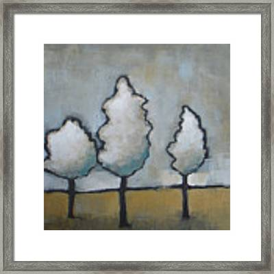 White Trio Framed Print by Vesna Antic