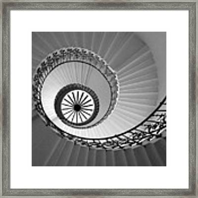 Tulip Staircase Framed Print by Julian Perry