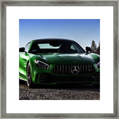 #mercedes #amg #gtr #print Framed Print by ItzKirb Photography