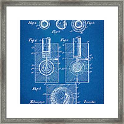 1902 Golf Ball Patent Artwork - Blueprint Framed Print