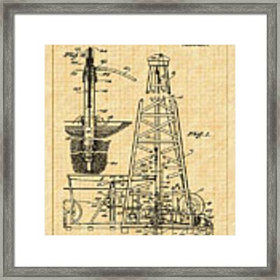 1911 Oil Well Patent Framed Print by Barry Jones