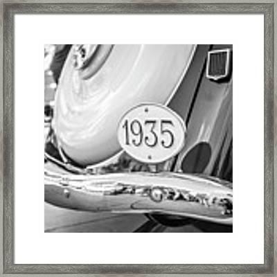 1935 Black And White Framed Print by Gary Gillette