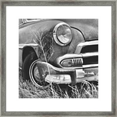 1951 Chevrolet Power Glide Black And White 2 Framed Print by Lisa Wooten