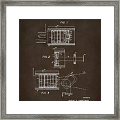 1969 Short Wave Electromagnetic Radiation Patent Espresso Framed Print by Nikki Marie Smith