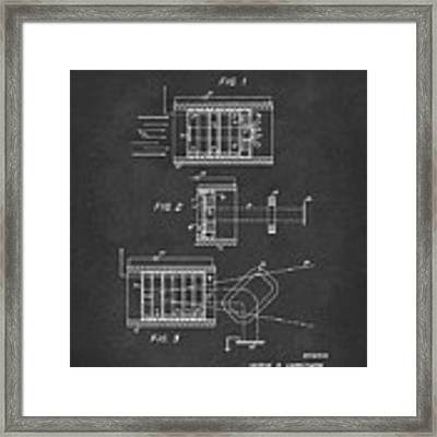 1969 Short Wave Electromagnetic Radiation Patent Gray Framed Print by Nikki Marie Smith