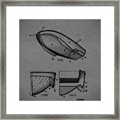 1971 Hydroplane Boat Hull Patent Framed Print by Barry Jones