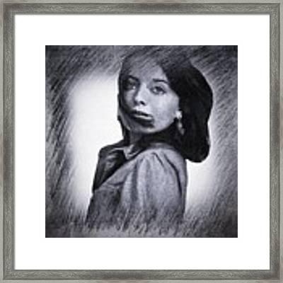 Selfportrait  Framed Print by Colette V Hera Guggenheim