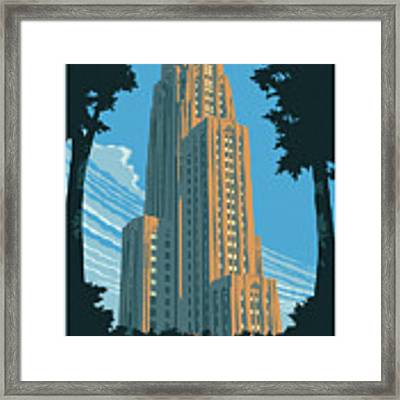 Pittsburgh Poster - Vintage Style Framed Print by Jim Zahniser