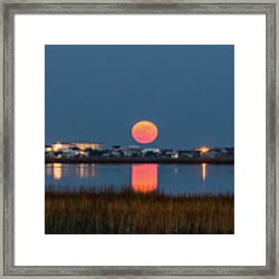 2017 Supermoon Framed Print by Francis Trudeau