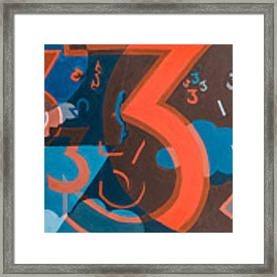 3 In Blue And Orange Framed Print by Break The Silhouette