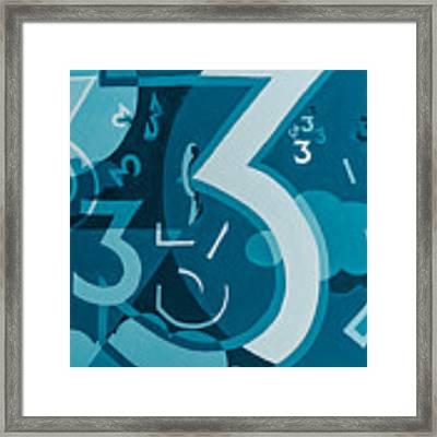 3 In Blue Framed Print by Break The Silhouette