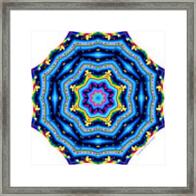 6 To 60 Kaleidoscope Framed Print by Brian Gryphon