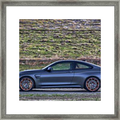 #bmw #m4 #gts #print Framed Print by ItzKirb Photography