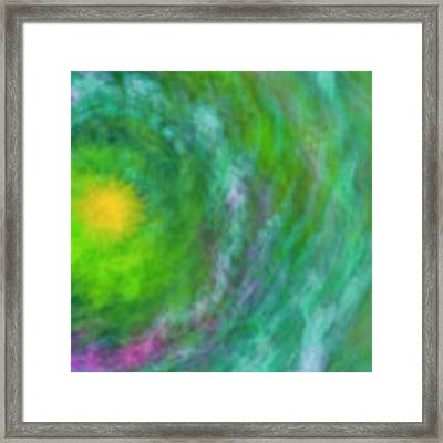 Impression Series - Floral Galaxies Framed Print by Ranjay Mitra