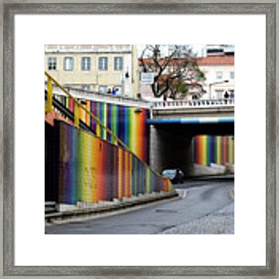 A Throughway Of Many Colors Framed Print by Lorraine Devon Wilke