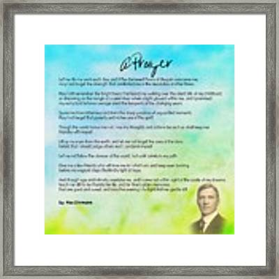 A Prayer By Max Ehrmann V1 Framed Print by Adam Asar