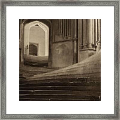 A Sea Of Steps Framed Print by Artistic Panda