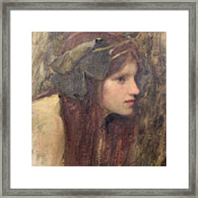 A Study For A Naiad Framed Print