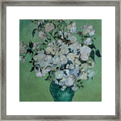 A Vase Of Roses Framed Print by Vincent van Gogh