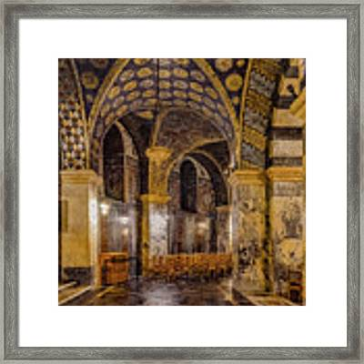 Aachen, Germany - Cathedral Ambulatory Framed Print by Mark Forte