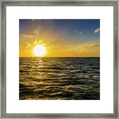Aboard A Danger Charter Sunset Cruise In Key West Framed Print by Bob Slitzan