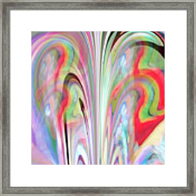 Abstract Butterfly Framed Print by Mihaela Stancu