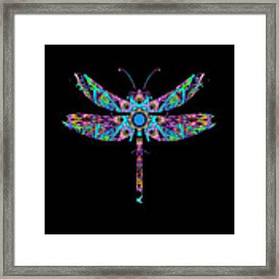 Abstract Dragonfly Framed Print by Deleas Kilgore