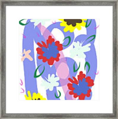 Abstract Garden #1 Framed Print by Bee-Bee Deigner