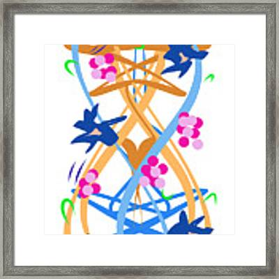 Abstract Garden #3 Framed Print by Bee-Bee Deigner