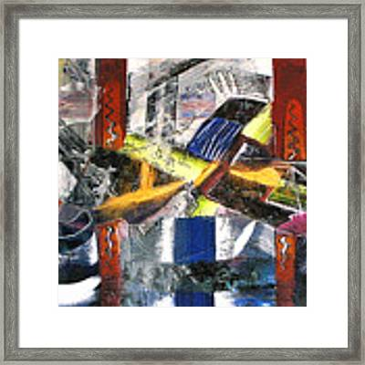 Abstract Painting Framed Print by Robert Thalmeier