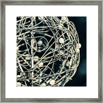 Abstract Sphere Framed Print by Todd Blanchard
