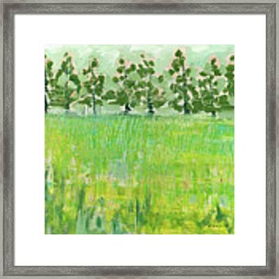 Across The Meadow Framed Print by Jennifer Lommers