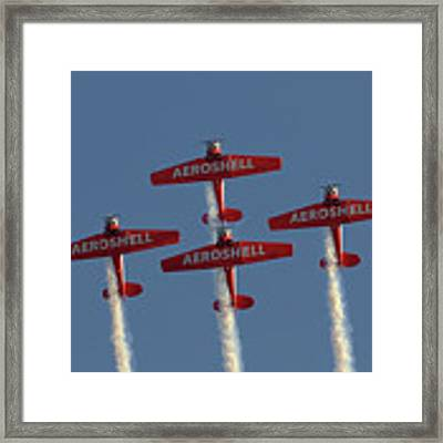 Aeroshell Aerobatic Team Framed Print by Susan Rissi Tregoning