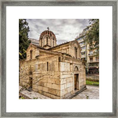 Agios Eleftherios Church Framed Print by James Billings