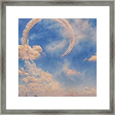 Airshow At The Lou Framed Print by Susan Rissi Tregoning