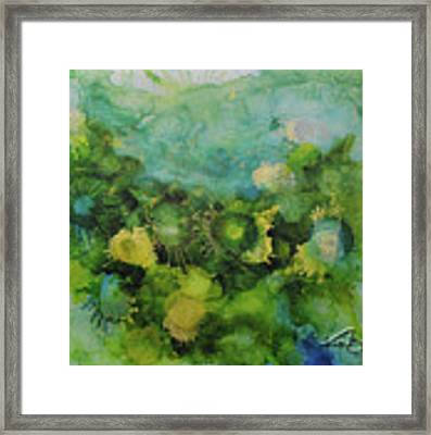 Alcohol Ink 1 Framed Print by Kate Word