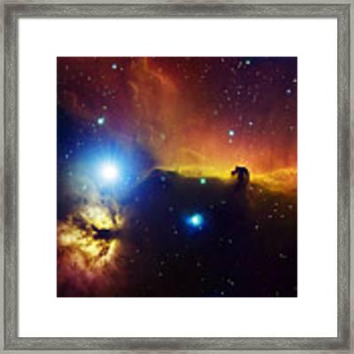 Alnitak Region In Orion Flame Nebula Framed Print by Filipe Alves